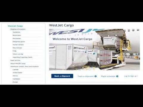 WestJet Cargo Tracking,WestJet Air Cargo Tracking Status