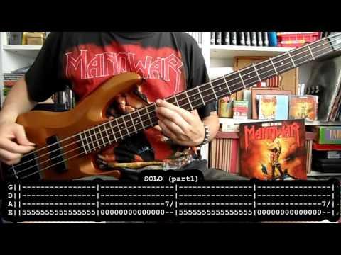 MANOWAR - Kings of metal (bass cover w/ Tabs)
