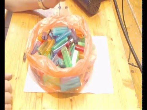 видео: Что можно сделать из использованных зажигалок.