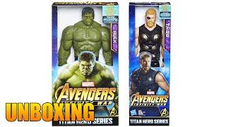 Juguete de Los Vengadores Titan Hero Avengers Infinity War Power FX Hulk y Thor