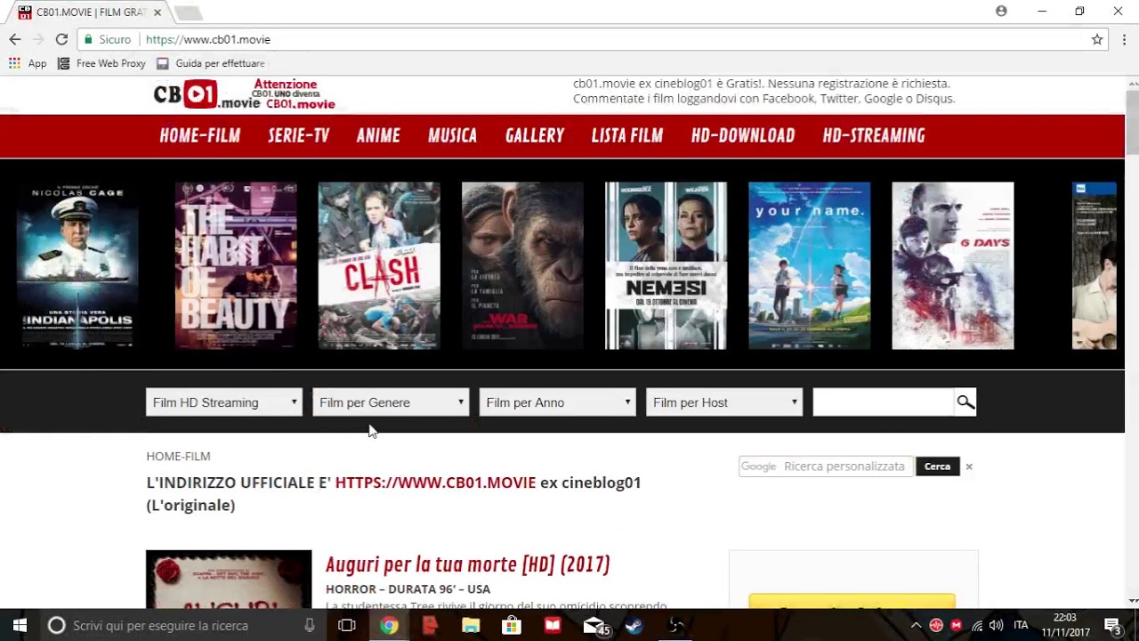 Come Guardare Film In Streaming Gratis Senza Registrazione Youtube