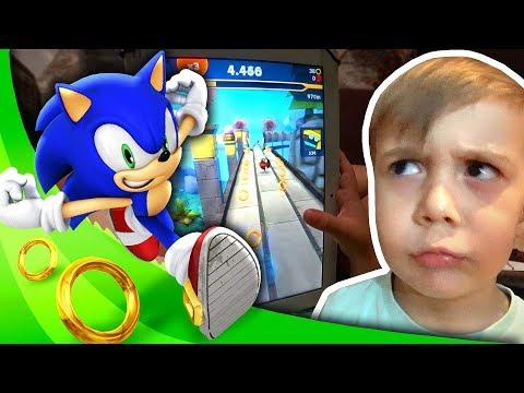 SONIC DASH NO TABLET!! Maikito Jogando Sonic the Hedgehog - Gameplay Sega e Daily Vlog em Familia