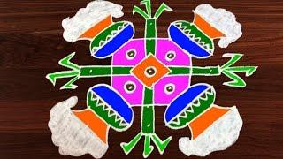 #297 - Sankranthi Muggulu | 7 x 7 Dots | Easy Rangoli Designs with Kolam by Sunitha