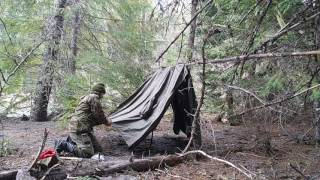 German Military Rain Poncho and making a shelter using two ponchos (pup tent ).