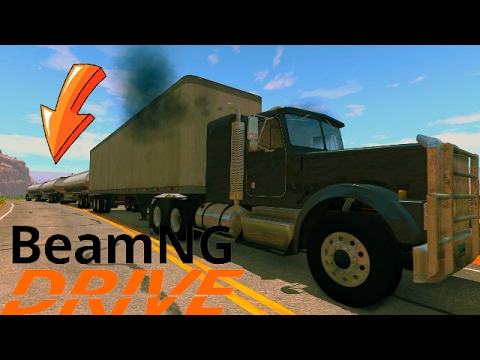 Super road train trucks: BeamNG Drive
