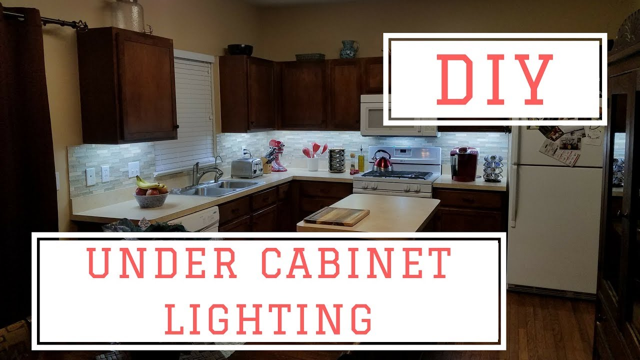 Under Cabinet Lighting In Kitchen Installing Diy Under Cabinet Lights For Under 75