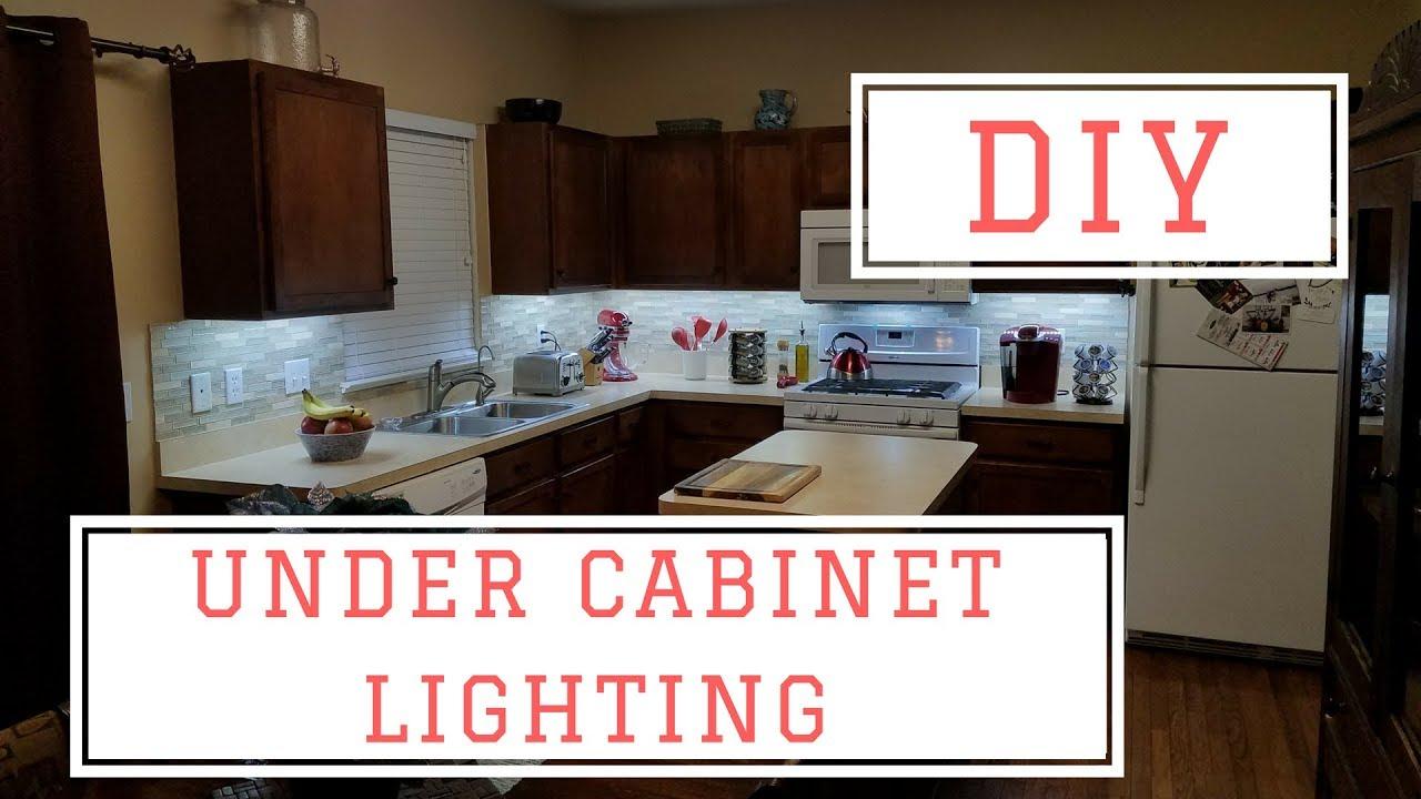 installing diy under cabinet lights for under 75