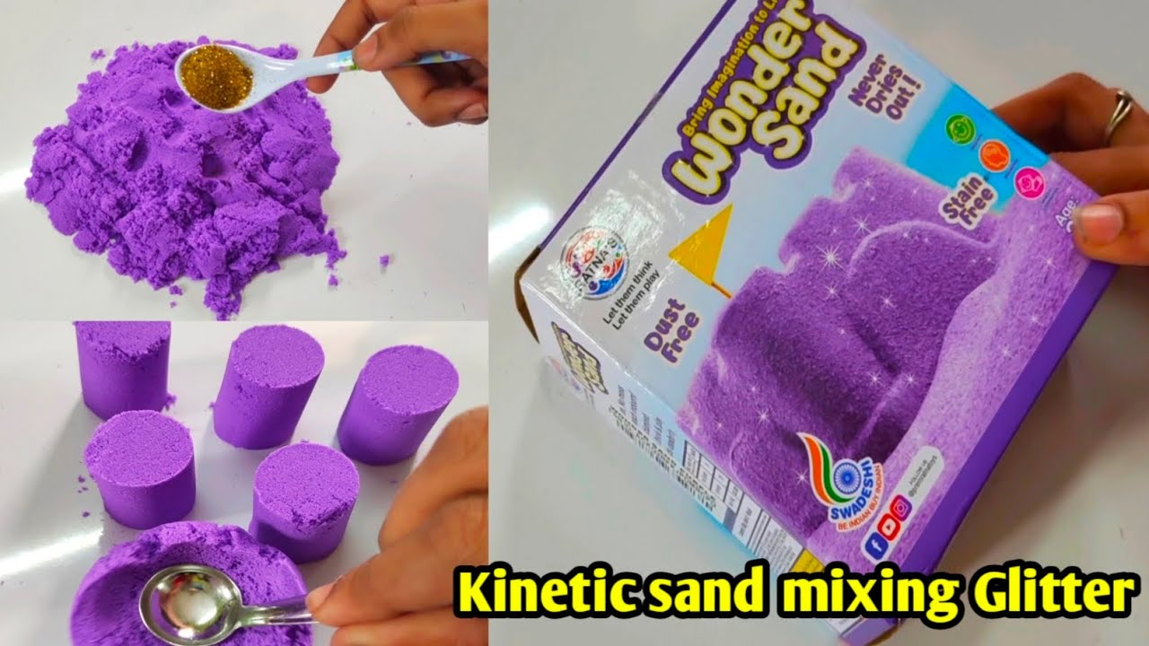 Kinetic sand review in tamil/kinetic sand mixing glitter sand /craft tamil