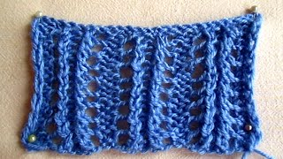 ВЯЗАНИЕ ДЛЯ НАЧИНАЮЩИХ! АЖУРНЫЙ УЗОР №5 Не сложный красивый узор knitting