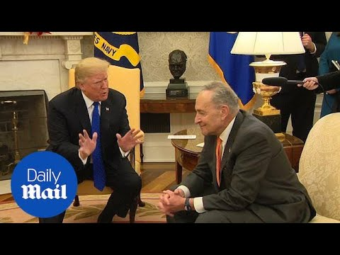Trump tells Schumer he'll take the blame for government shutdown