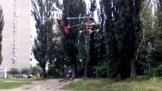 самодельный радиоуправляемый вертолёт и его полёт / homemade RC-helicopter(Если есть мечта, то к ней нужно идти, а временные трудности не должны останавливать нас на пути к достижению..., 2014-08-14T11:07:27.000Z)
