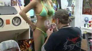 3D Head Custom Paint - Air Brush Body Art - Nancy Lynn and Lori