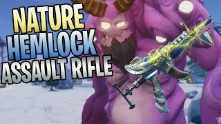 FORTNITE - New Medieval Hemlock Assault Rifle Gameplay (Knight Armor Weapon Skin)