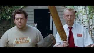 Shaun Of The Dead (Killing Zombies Scene)