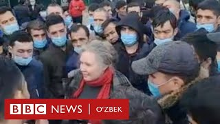 Ўзбекистон - Россия, намойишчи мигрантлар: бу ерга ётгани келмадик - BBC News O'zbek O'zbekiston