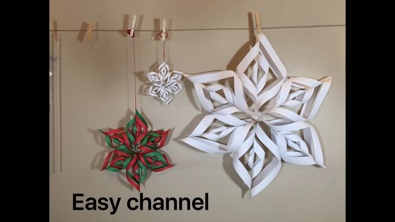 how to make a 3d snowflake youtube