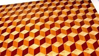 Repeat youtube video Making a 3D end grain cutting board №2 (Изготовление 3D торцевой разделочной доски №2)