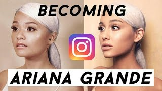 singaporean girl recreates ariana grandes instagram