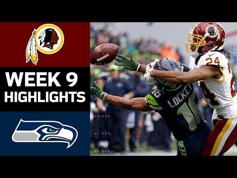 Redskins vs. Seahawks | NFL Week 9 Game Highlights
