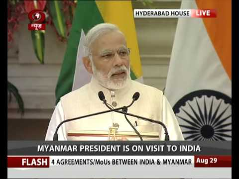 Signing of agreements and joint statement between India and Myanmar