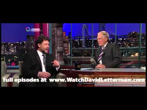Russell Crowe in Late  with David Letterman 20101110