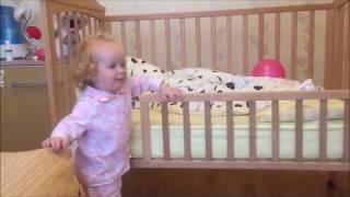 кроватка детская, маленькие переделки по мере взросления внучки