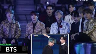 #BTS #TXT #MAMA2019     BTS Reaction to TXT Run Away At MAMA 2019