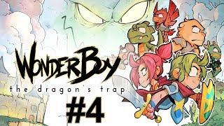 """Прохождение Wonder Boy The Dragon's Trap Серия 4 """"Рыбка в лаве"""""""