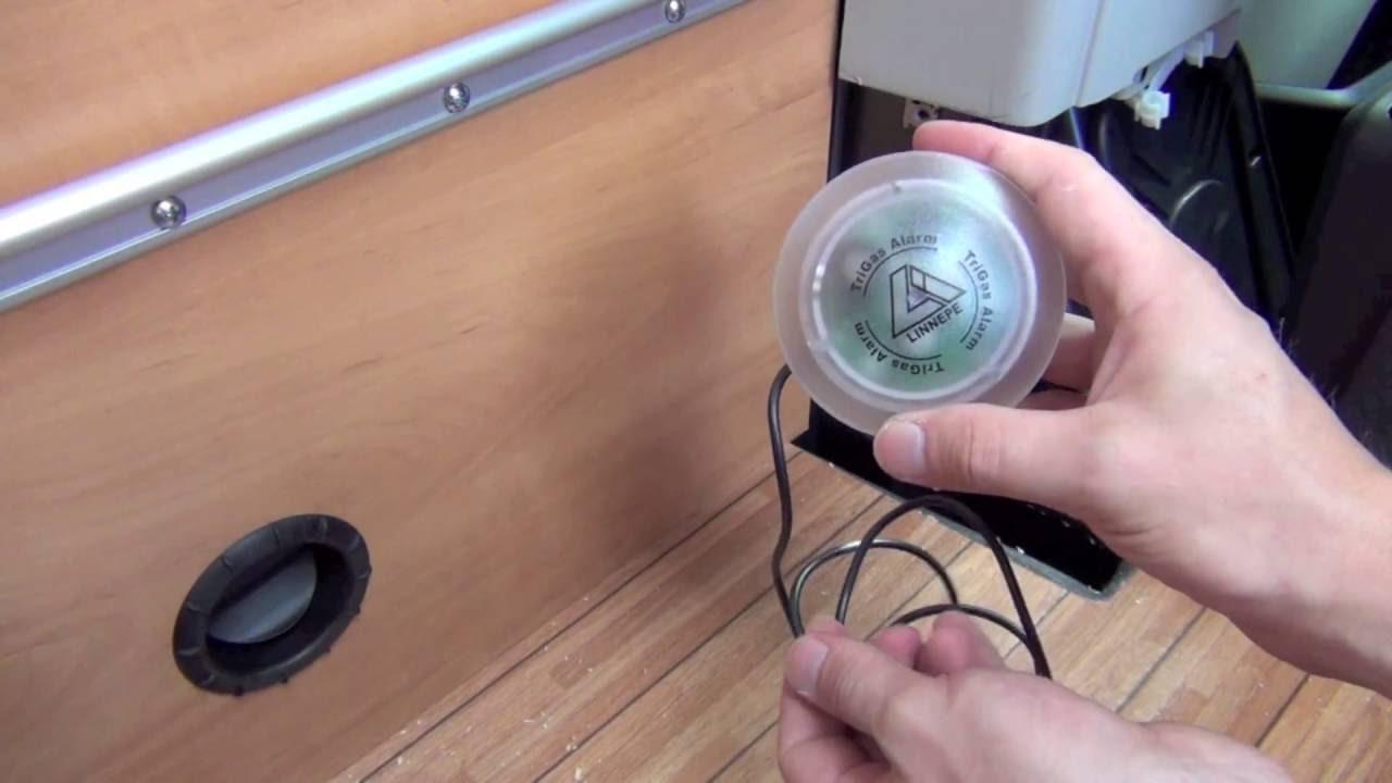 Camping Trigas Alarm Narkosegaswarngerät Linnepe für das Wohnmobil im Test