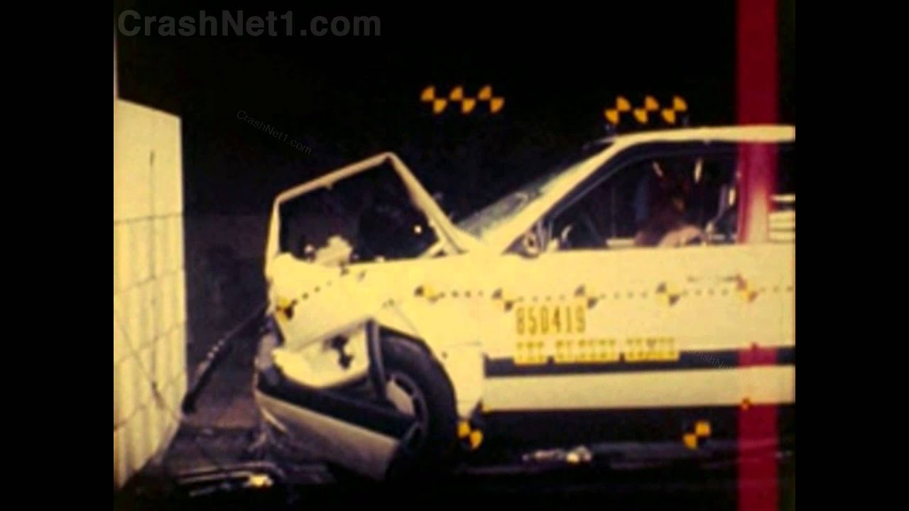 Audi 5000 100 200 1985 Frontal Crash Test By Nhtsa