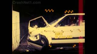 Audi 5000 / 100 / 200 | 1985 | Frontal Crash Test by NHTSA | CrashNet1