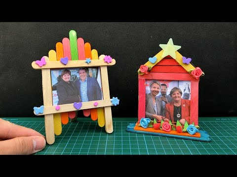 2 Beautiful Popsicle Stick Photo Frames #36 from YouTube · Duration:  3 minutes 49 seconds