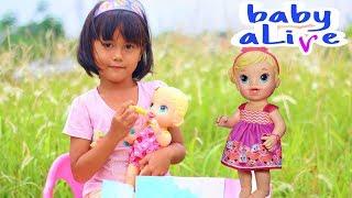 Review mainan anak BABY ALIVE Lucu | Kasih makan Boneka Baby