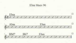 Eb minor blues tempo 96