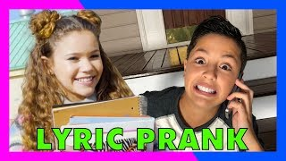 SONG LYRIC PRANK CONFESSION! (vs Sierra Haschak)