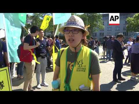 Anti-nuclear power demonstration in Taiwan
