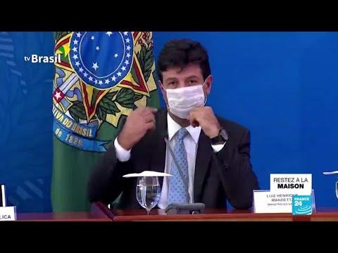 Brésil: En pleine crise du coronavirus, Bolsonaro limoge son populaire ministre de la Santé