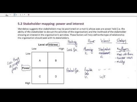 Mendelow\'s stakeholder matrix - An overview - YouTube