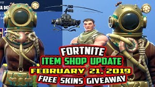 FORTNITE ITEM SHOP UPDATE - FEBRUARY 21, 2019 - *NEW* DEEP SEA DESTROYER