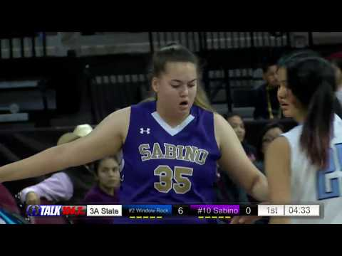 Sabino vs Window Rock Girls 3A State Basketball Quarterfinals Full Game