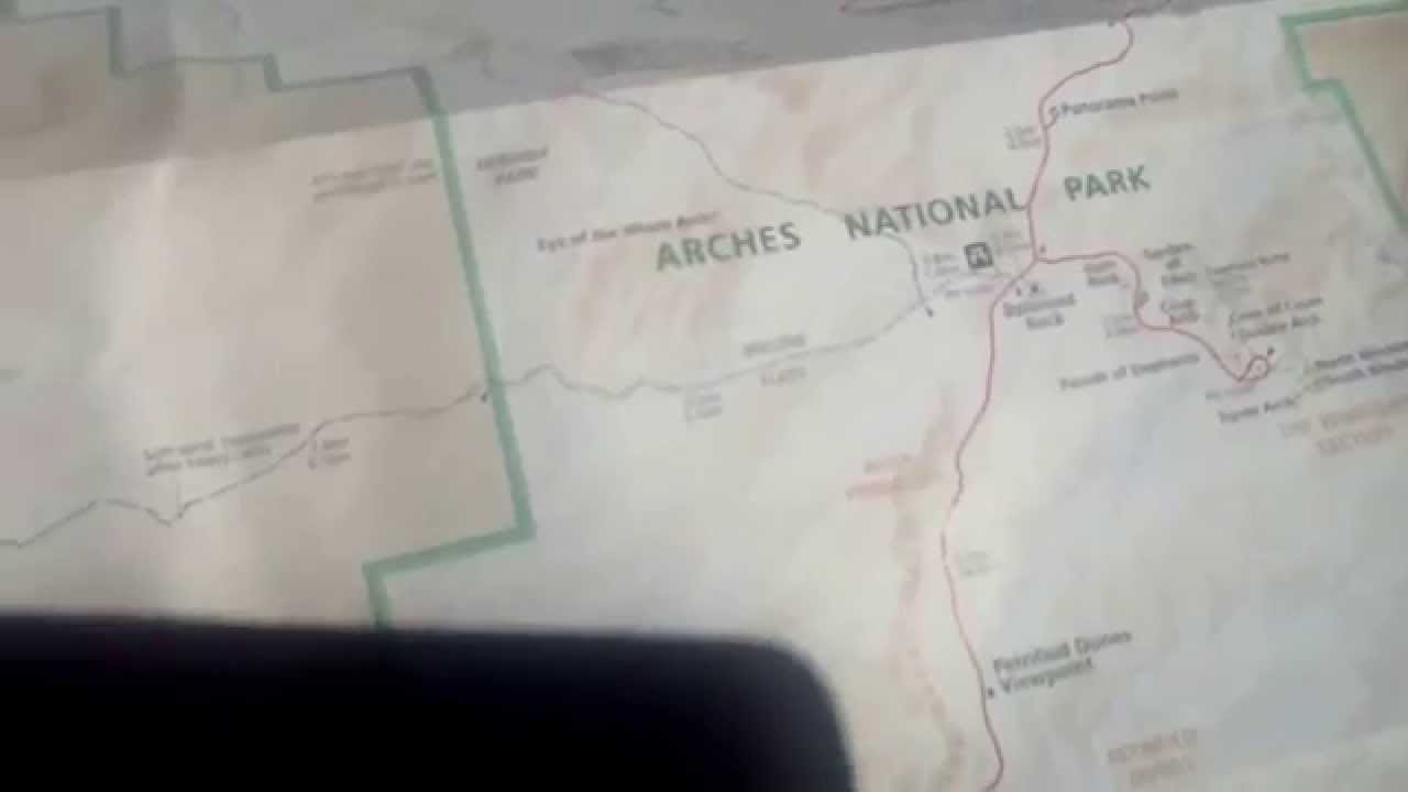Arches national park map - YouTube
