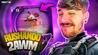 RUSHANDO COM 2 AWM NO FREEFIRE!!! FT LOS GRANDES