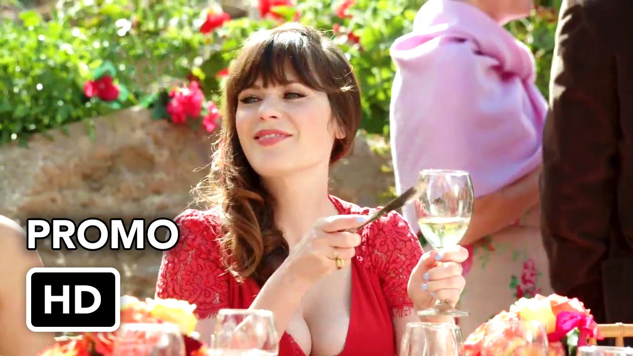 New girl 5x21 wedding eve 5x22 landing gear promo for Zooey deschanel wedding dress
