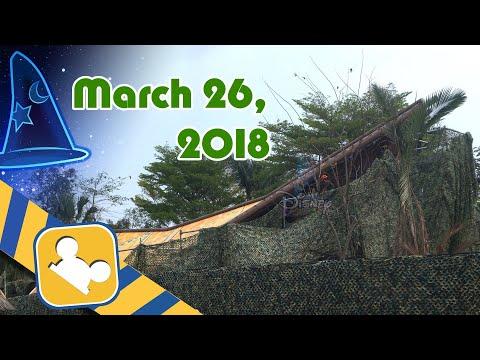Construction Update:NEW Adventureland Show Place | Hong Kong Disneyland (March 26, 2018)