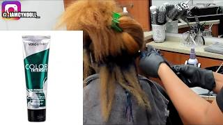 Silk Press & Double Process on Natural hair! NORTHERN LIGHTS!