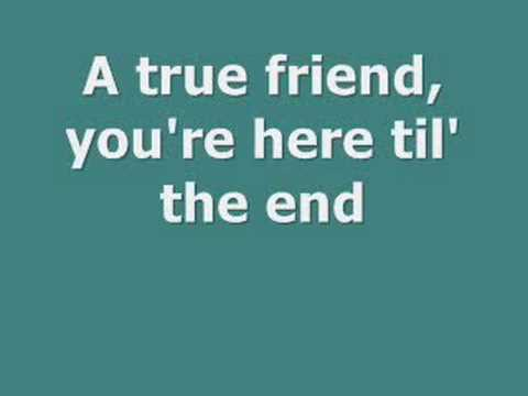 True Friend Hannah Montana Lyrics