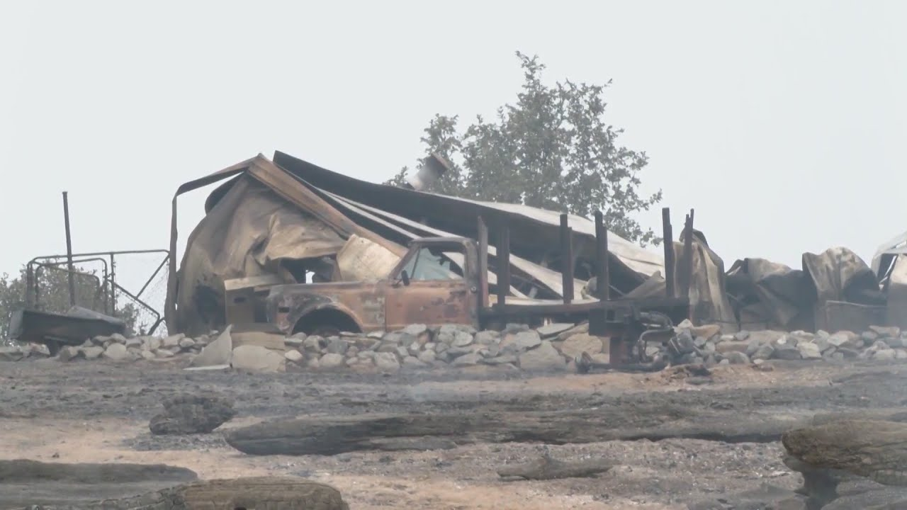 Eyewitness News  Auberry Road homes decimated by Creek Fire