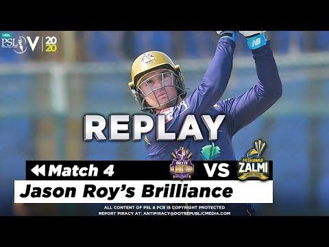 J Roy Batting Highlights | Quetta Gladiators vs Peshawar Zalmi | Match 4 | HBL PSL 5 | 2020