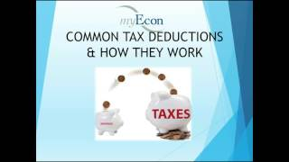 7 COMMON TAX DEDUCTIONS AND HOW THEY WORK - VISION TEAM