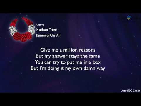 Nathan Trent - Running On Air (Austria) [Karaoke Version]